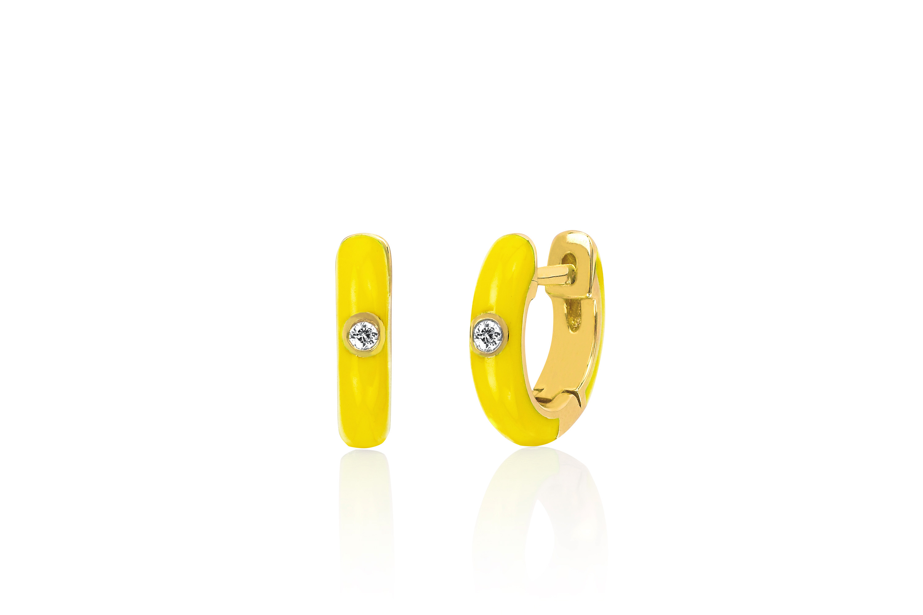 0e4083ff2b SoulCycle x EF Collection Enamel Huggie Earrings - Online Only - SoulCycle  Shop