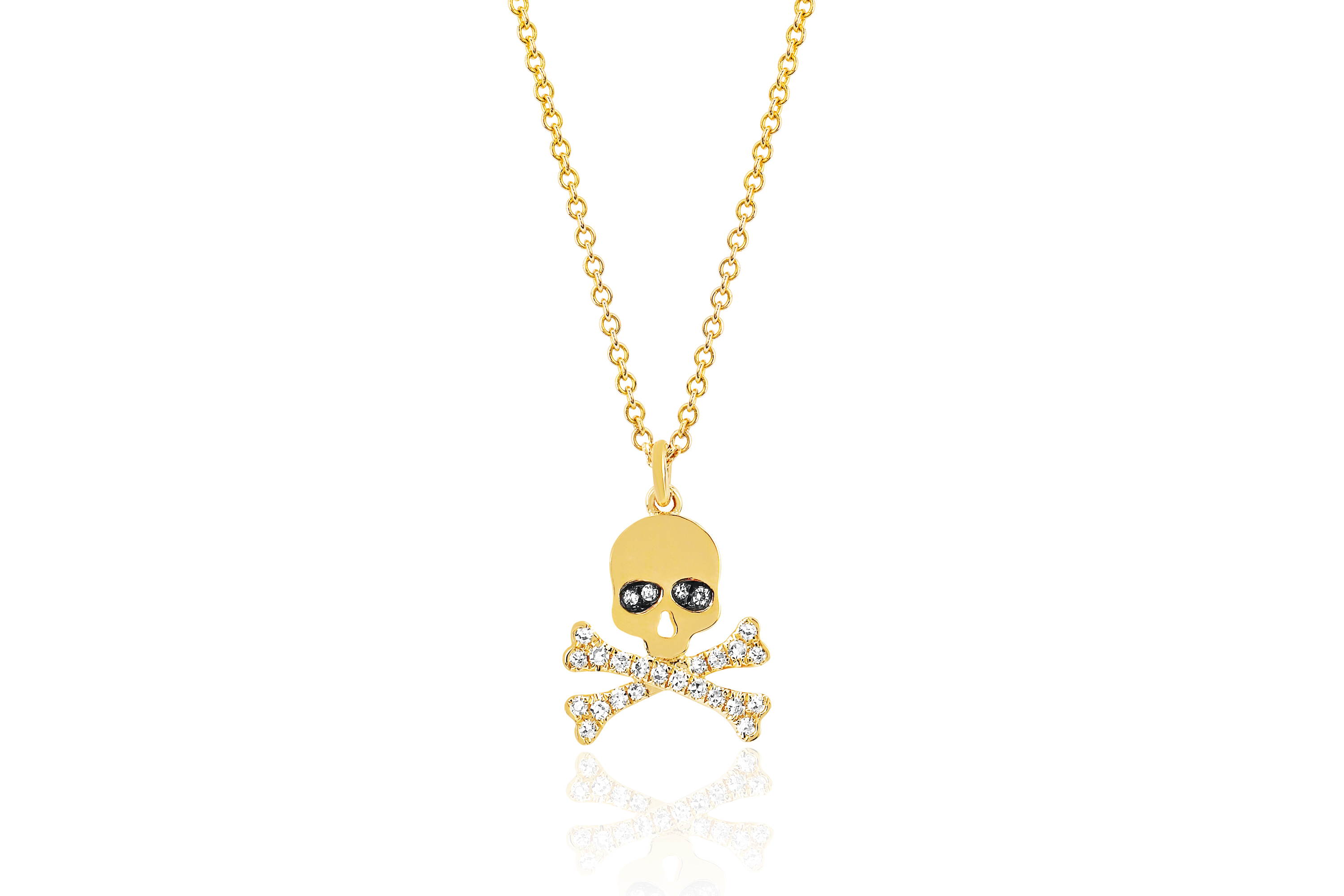 Soulcycle X Ef Collection Skull Diamond Necklace Online Only