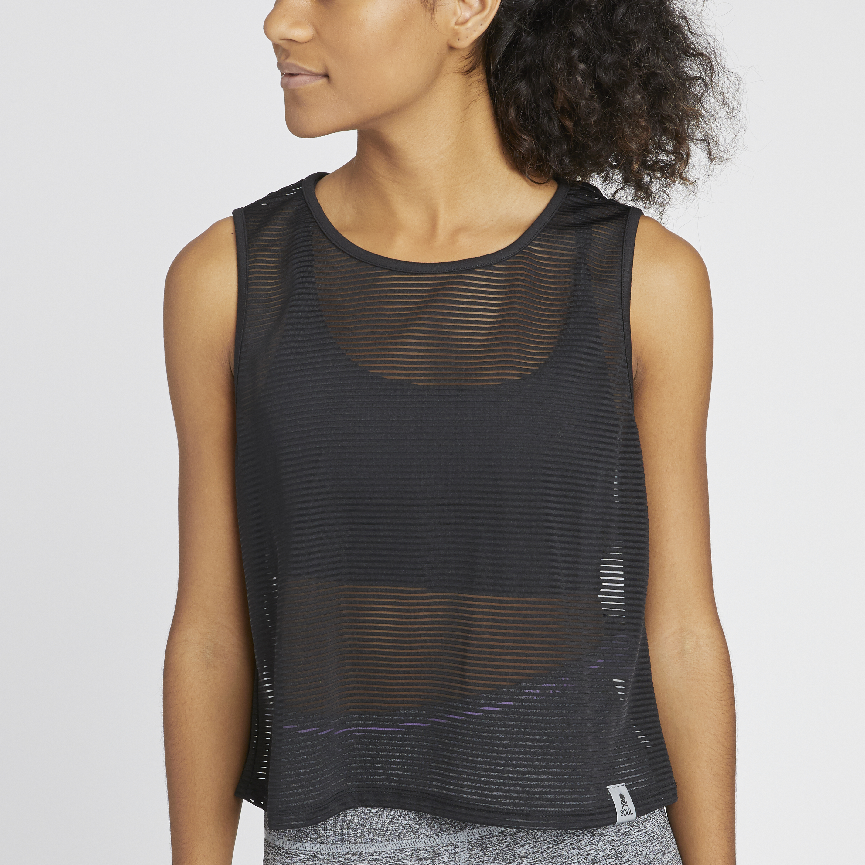 Soul by SoulCycle Sheer Stripe Crop Tank - SoulCycle Shop