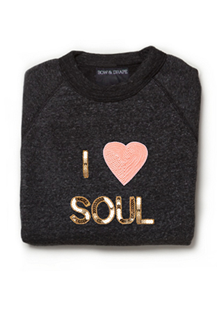 Show your soul love with bow and drape for Custom t shirts long island ny